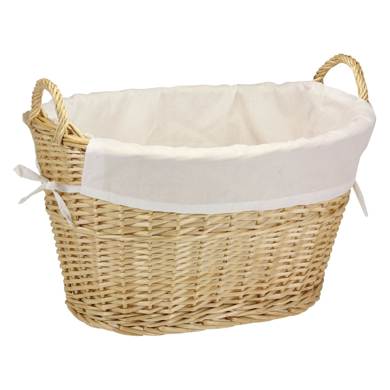 Household Essentials Willow Laundry Basket With Lining Handles Laundry Hamper Basket Wicker Laundry Hamper