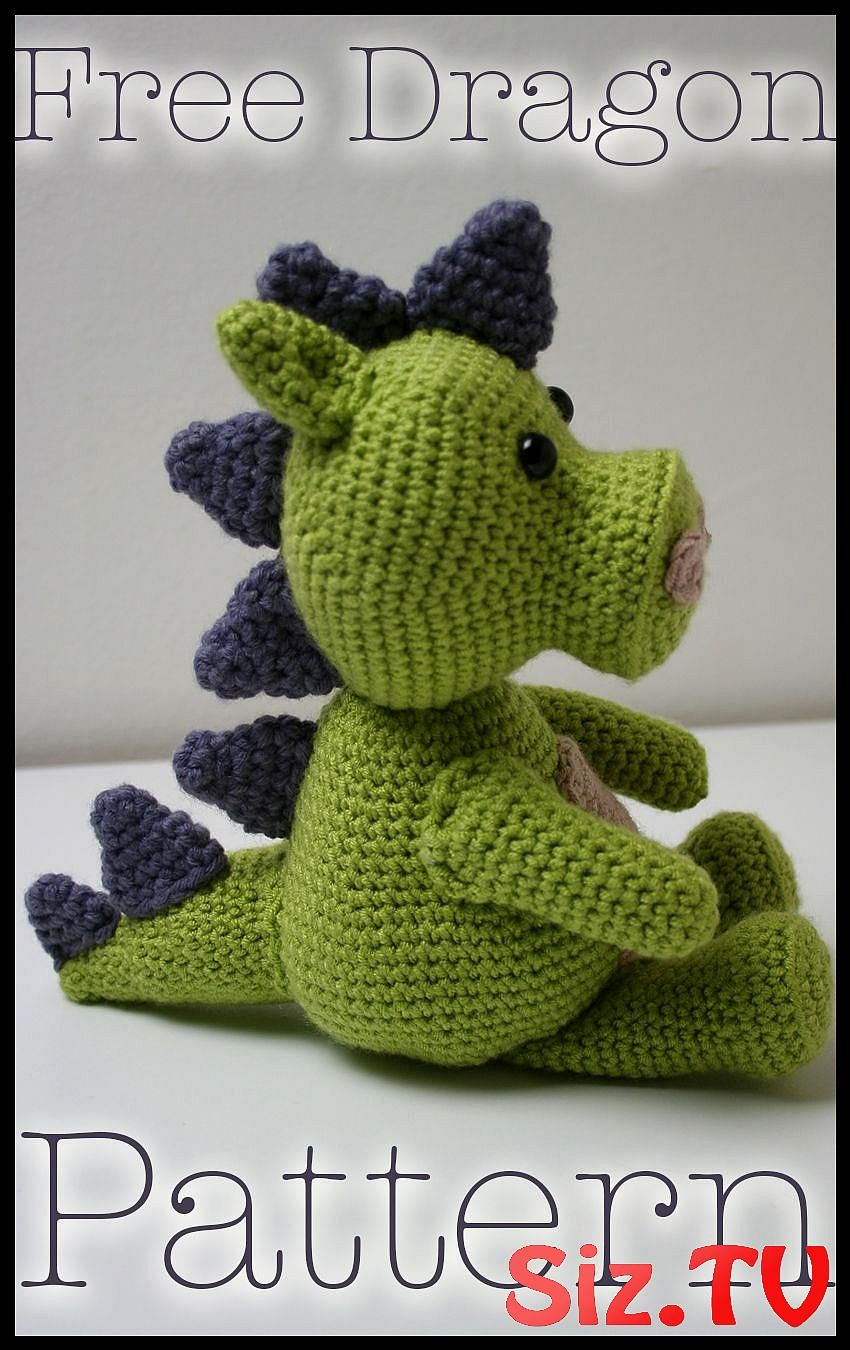 Amigurumi Baby Dragon Crochet Pattern Video Tutorial | 1350x850