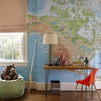 Kids Room With World Map Wallpaper Kids PlayroomLounge - World map boys room