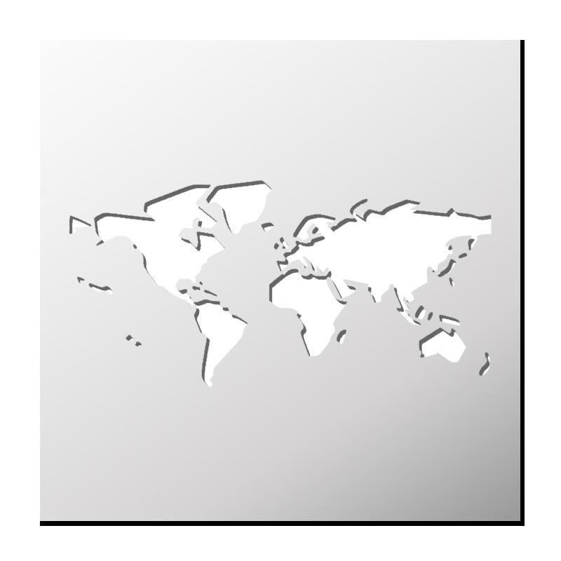 pochoir carte du monde Épinglé sur estampados