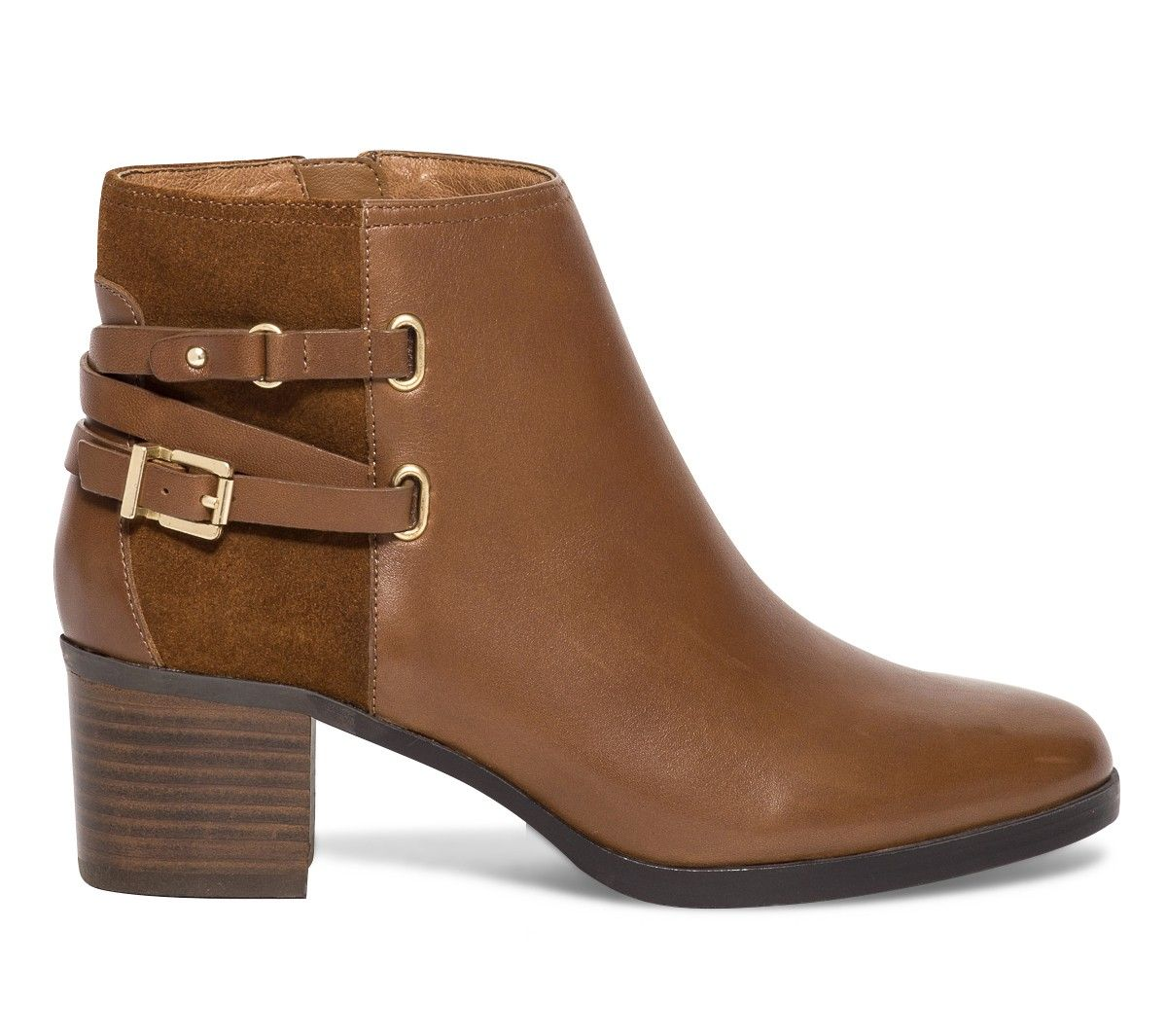 f7429ba59687 Boots boucles cuir camel - Boots   bottines - Chaussures .