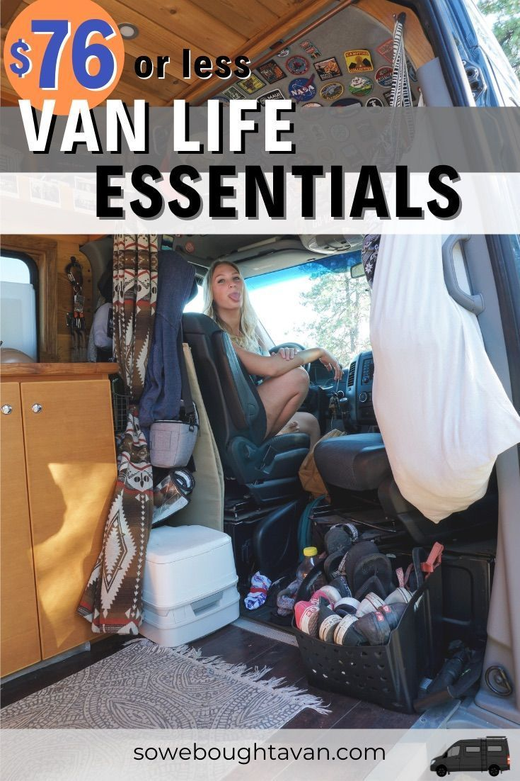 Photo of Vanlife Essentials for $ 76 or less