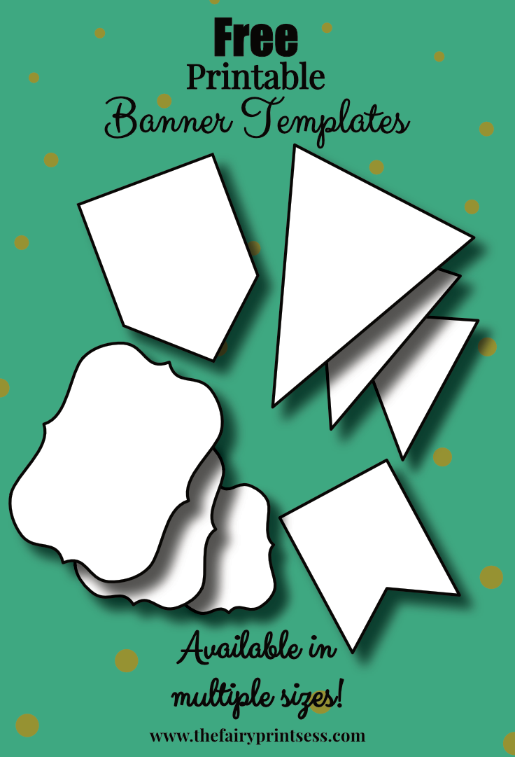 Free Printable Banner Templates - Blank Banners For DIY Projects!