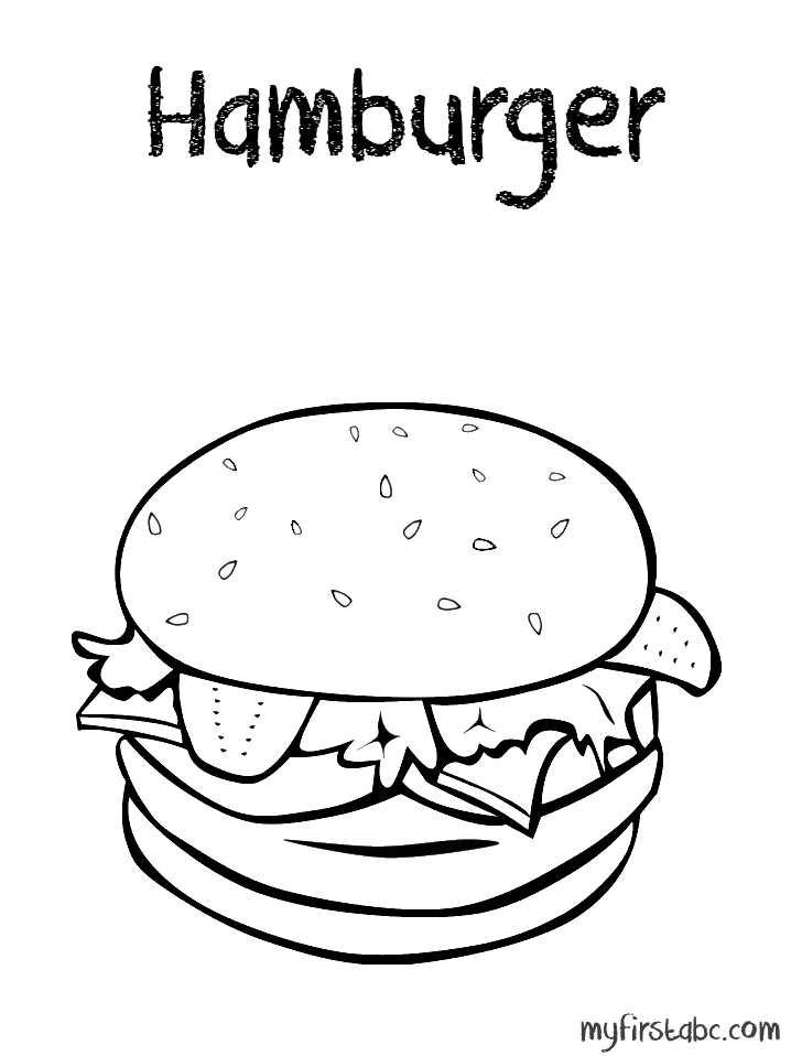 Crispy Hamburger Coloring Pages ℕℰℰⅅ ᏆᎾ ⅅᎾ Coloring