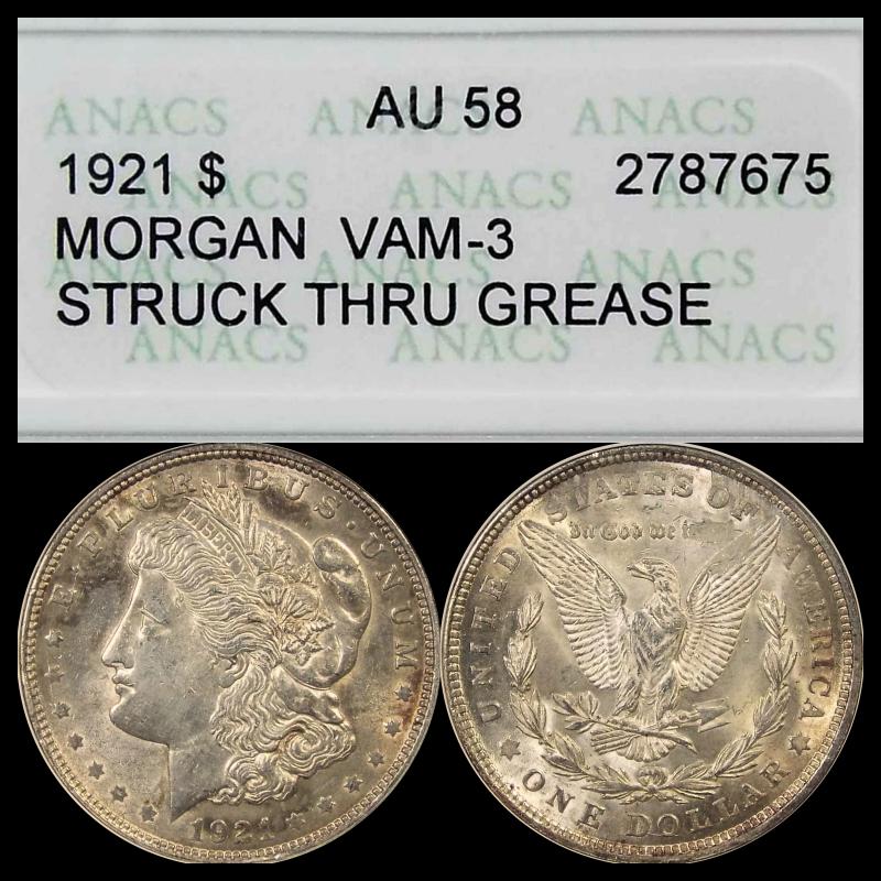 error #errorcoins 1921 $1 Morgan silver dollar VAM-3
