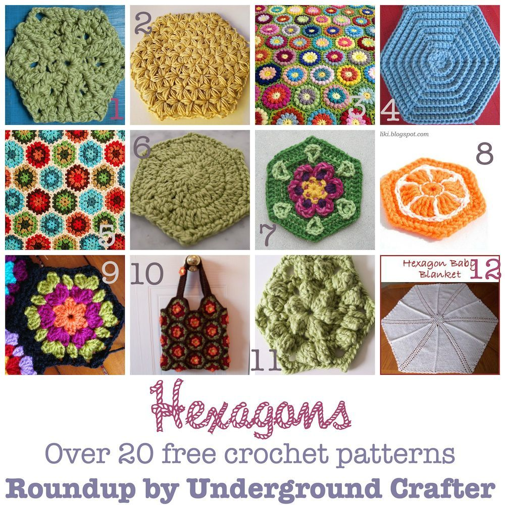 Roundup of 20 free crochet patterns with hexagons on ucrafter roundup of 20 free crochet patterns with hexagons on ucrafter dt1010fo