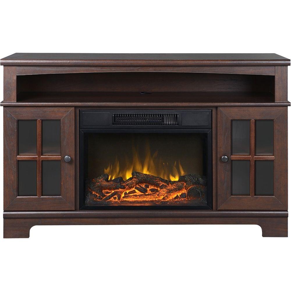 Flamelux - Zarate Media Fireplace - Walnut (Brown) | Products ...