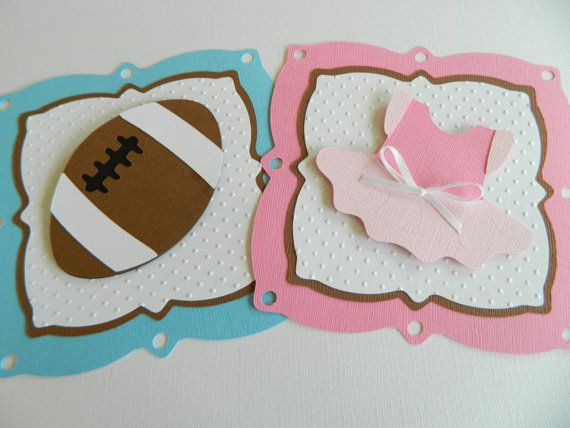 Boy or Girl Banner Touchdowns or Tutus Banner Gender by 2muchpaper ...