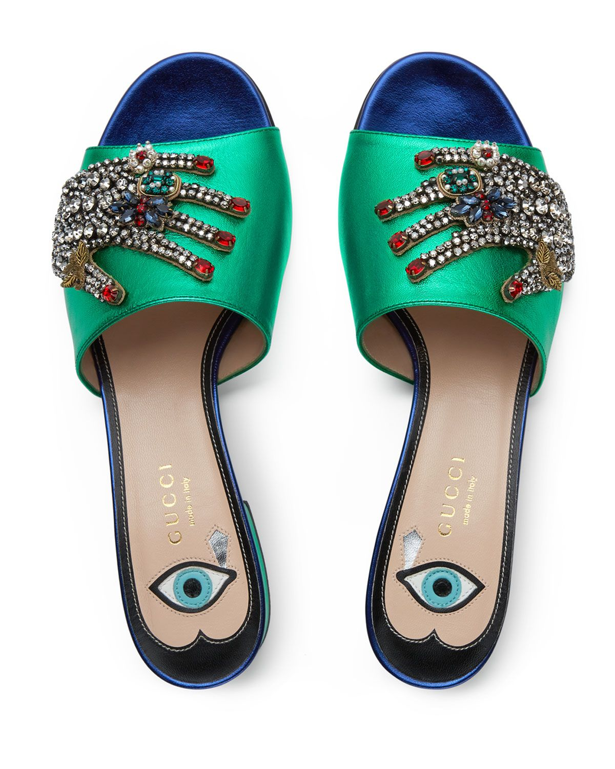 86e5a0953 Gucci Wangy Jeweled Mule Slide