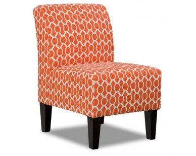 Contemporary Accent Chair   Orange Print   Sam Levitz Furniture