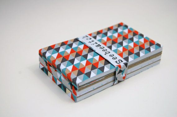 Three Abstract Triangle design flip-up notepads