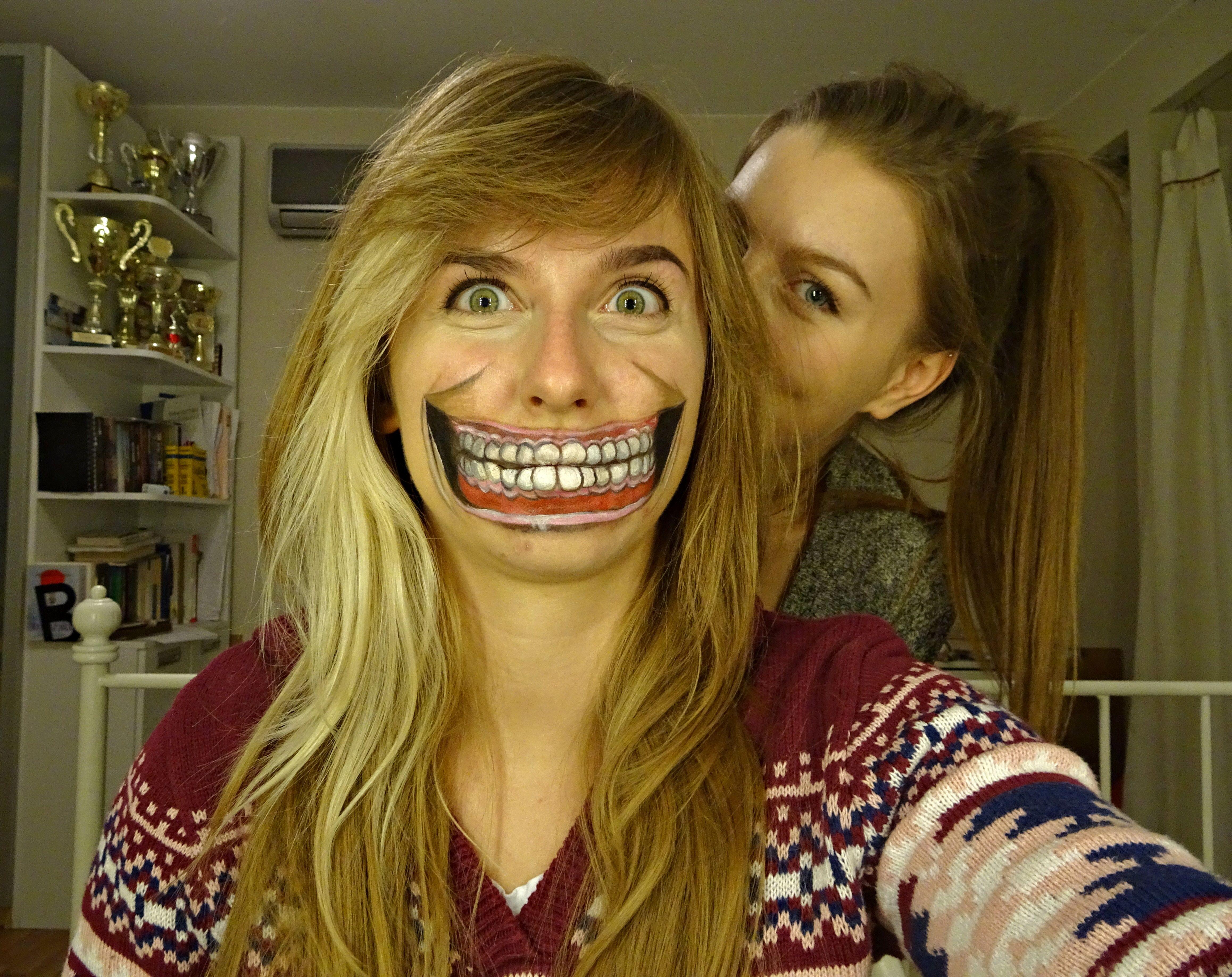 Halloween makeup - smile! ~Marta Kubiak make-up | Halloween make ...
