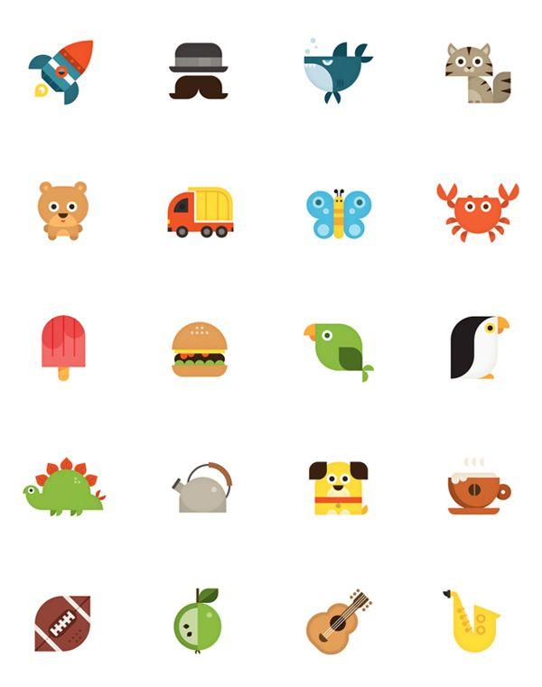 Nook HD Icons by eva galesloot, via Behance