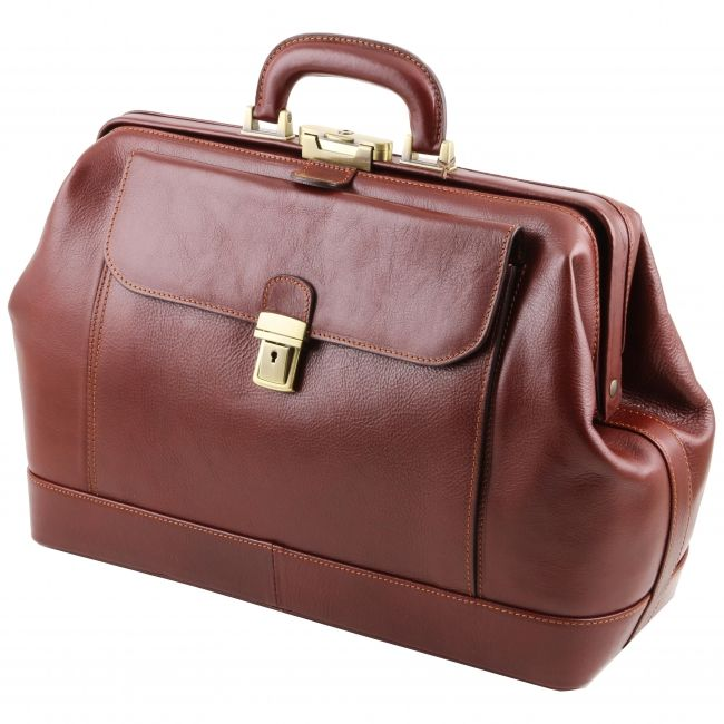 9aa17cb8c5a Italiaanse lederen dokterstas Leonardo donkerbruin - TL141299 -Tuscany  Leather
