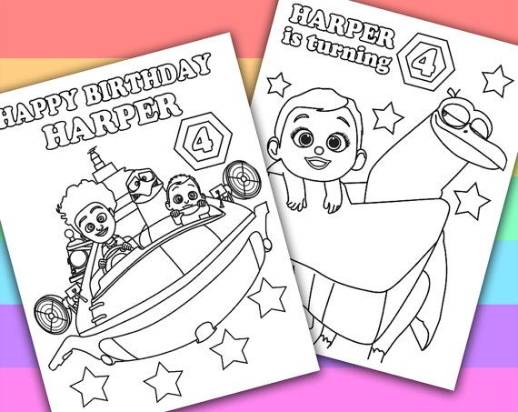 Storks customized coloring pages - Movie night activity ideas from ...