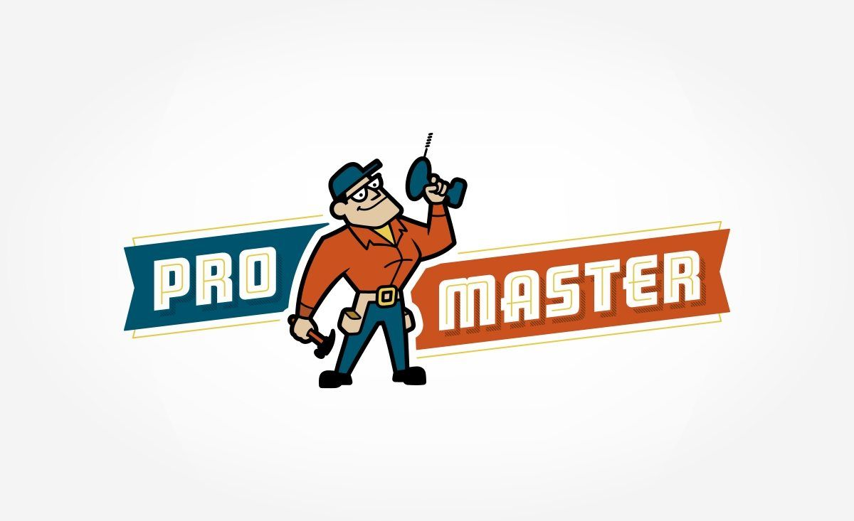Promaster Home Repair Kickcharge Creative Logos Design Retro Logo Design Handyman Logo