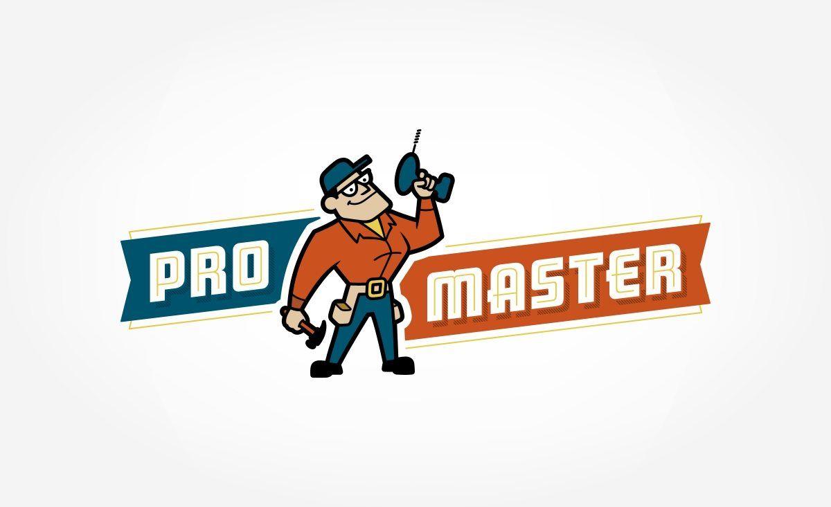 Appliance Repair Cincinnati Oh Retro Themed Mascot Logo For A Handyman And Home Repair Business