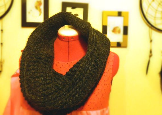 Crochet Circle Scarf by FitandFine on Etsy, $50.00