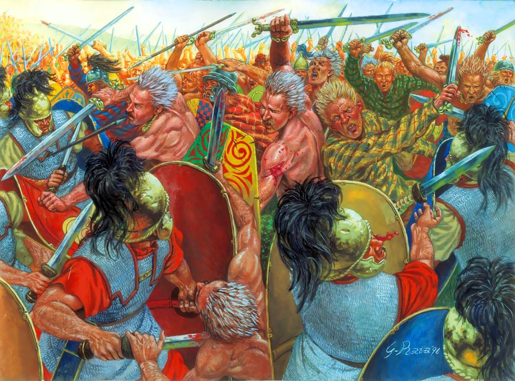Battle Or Siege Of Alesia The Army Of The Roman Republic Under