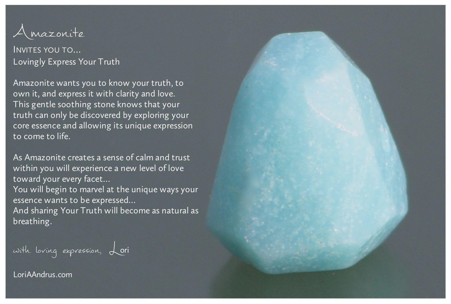 Amazonite A Stone Of Loving Expression Meditation Crystals