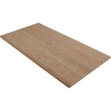 plateau de table solid bambou 150x80x2 6 cm leroy merlin. Black Bedroom Furniture Sets. Home Design Ideas