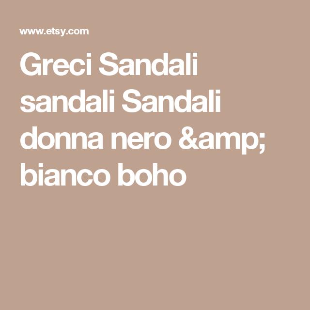 Greci Sandali sandali Sandali donna nero & bianco boho