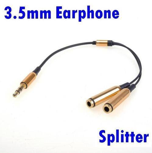 new audio stereo jack plug splitter dual earphone y adapter 1 male rh pinterest com 1 8 Jack Diagram Phone Jack Wiring Diagram