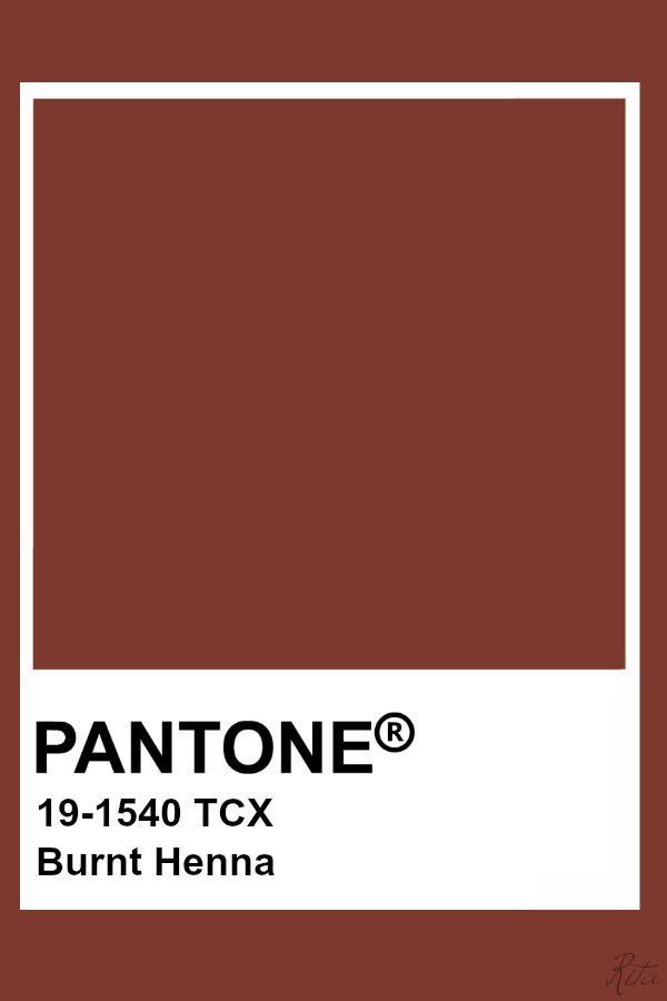 pantone burnt henna - Google Search in 2020   Pantone colour palettes,  Pantone color chart, Pantone color