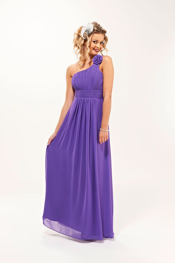 grecian style bridesmaid dresses | Rose Purple Grecian Style Long ...