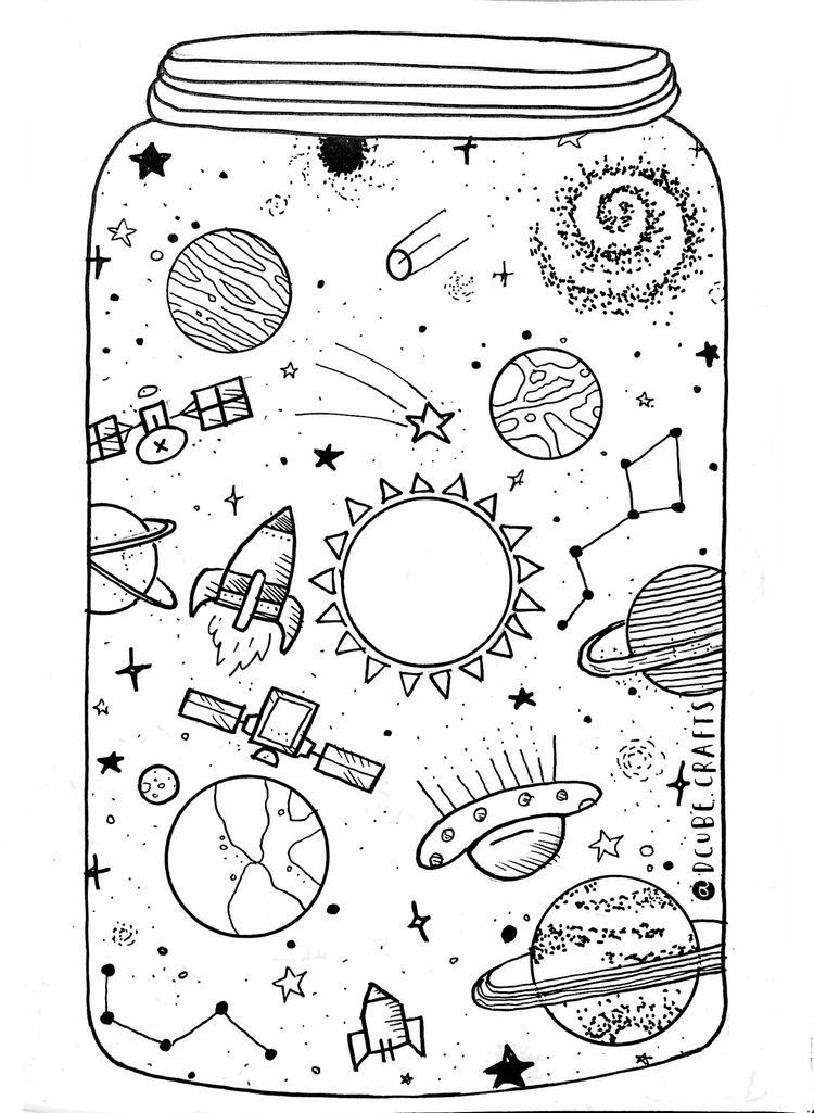 Pin by Hayley Betancourt on Everything Space drawings