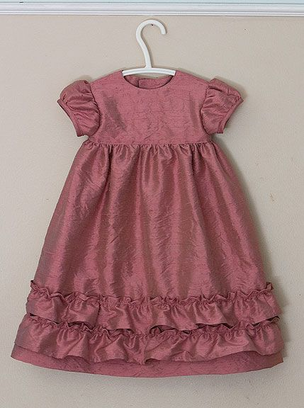 children's fashion workshop - sewing the styles - sewing a yokedress