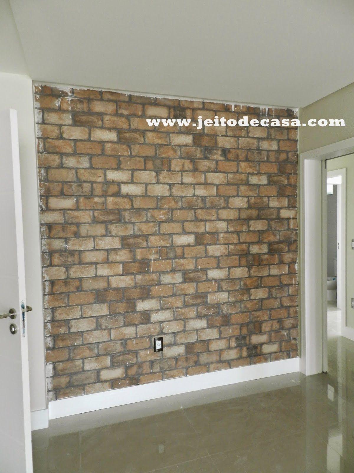 Jeito de Casa  Porcelanato  brick HD Portinari imitando tijolinhos