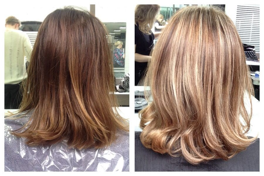 Before And After Full Head Highlights Using Bleach With 9 03 Toner