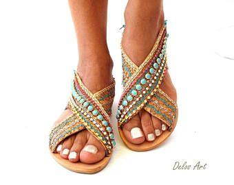682c19e89b191 Greek Leather Sandals