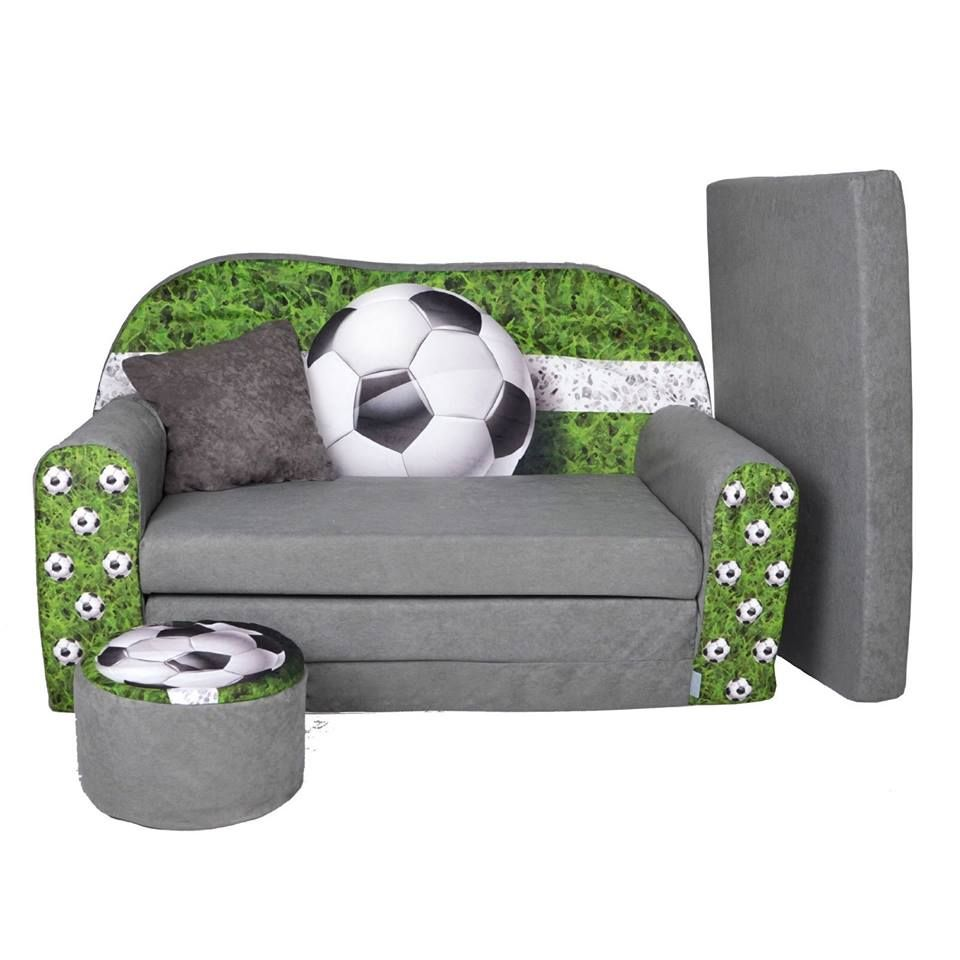 fussball kindersofa mit passenden hocker das sofa ist. Black Bedroom Furniture Sets. Home Design Ideas