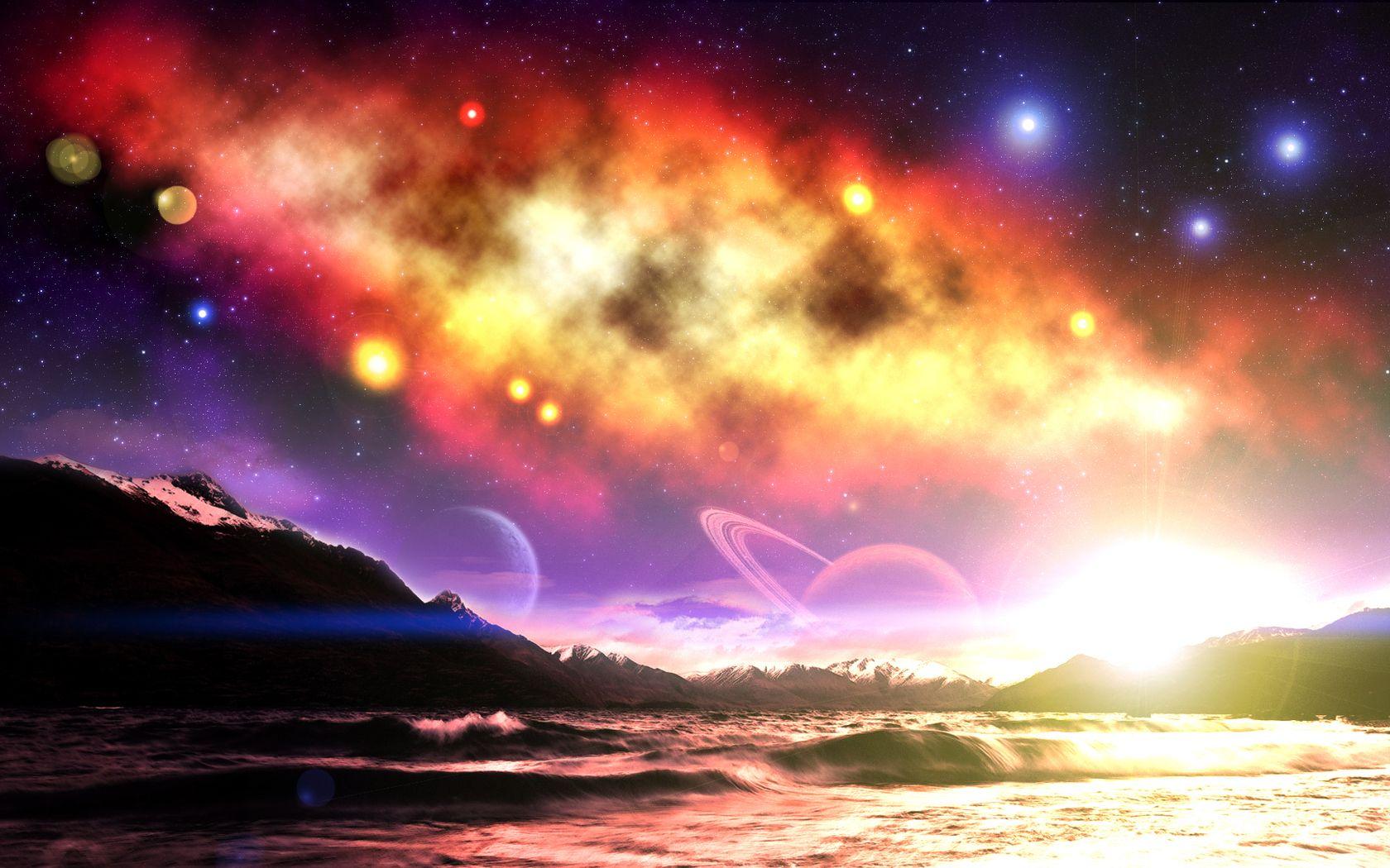 Psychedelic Computer Wallpapers Desktop Backgrounds 1680x1050 Id 304006 Space Art Wallpaper Space Art Sunrise Wallpaper