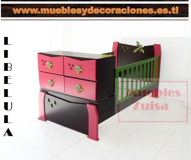 Cama cuna Libelula, fabricado por Muebles Zuisa, Whatsapp 3216694144 ...