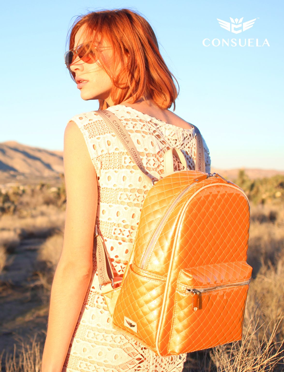 Our favorite travel companion.  |  Consuela Candy Crush Tangerine Dreams Backpack