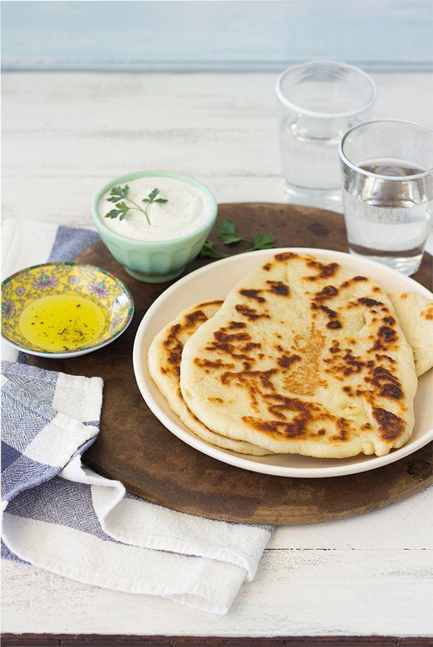 Garlic Naan | Garlic naan, Naan, No yeast bread