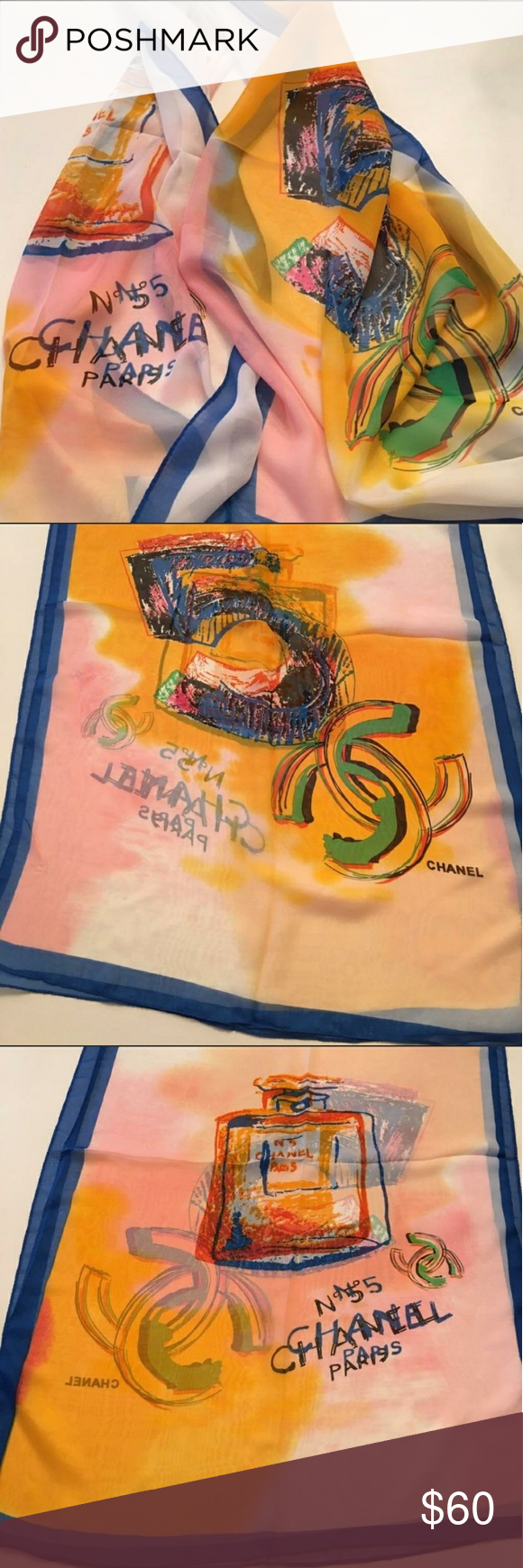 CHANEL N 5 Scarf New Authentic Gift With Purchase of
