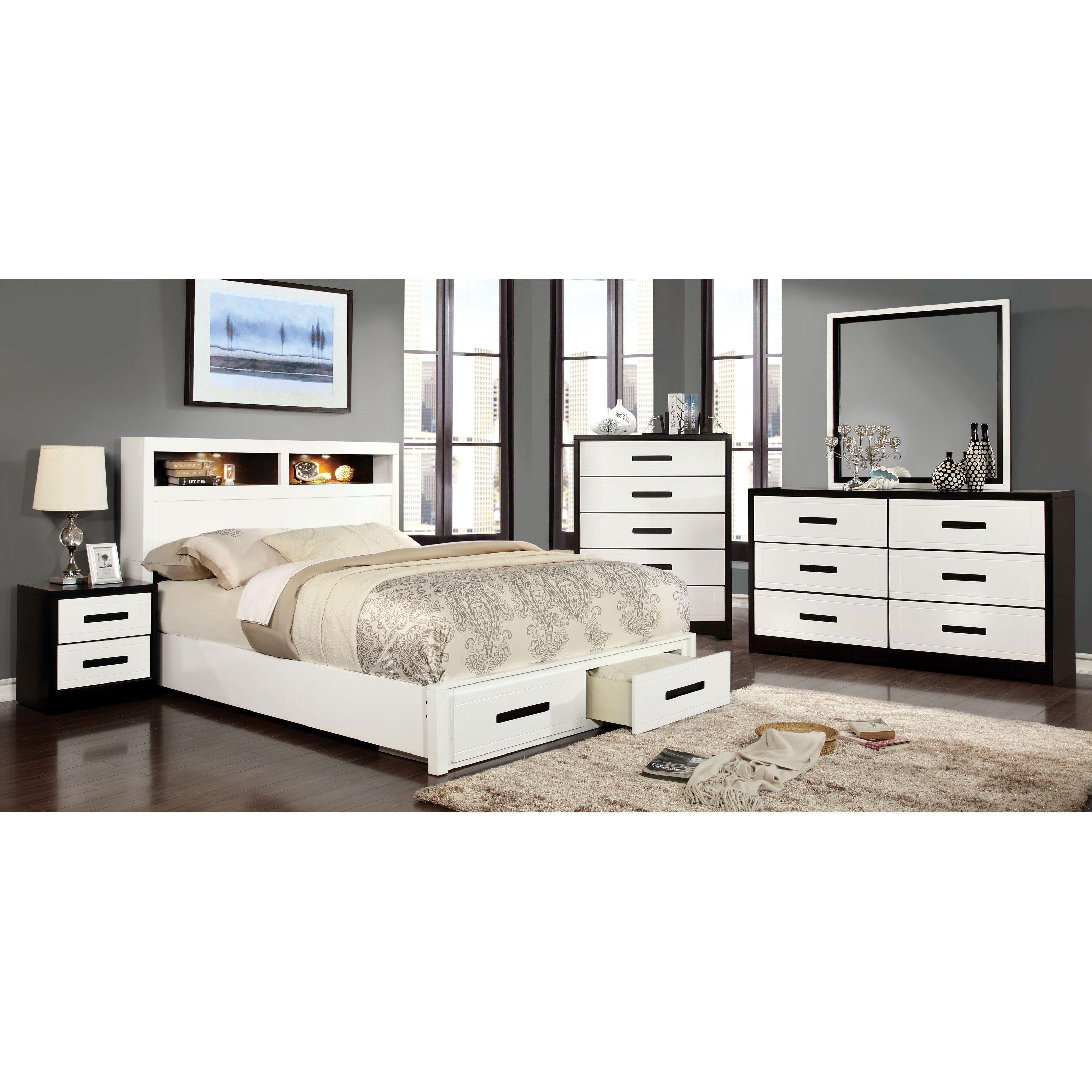 Furniture Of America Stegner Storage Bed Set  Idf7298Q2Pc Best Bedroom Sets With Storage Design Decoration