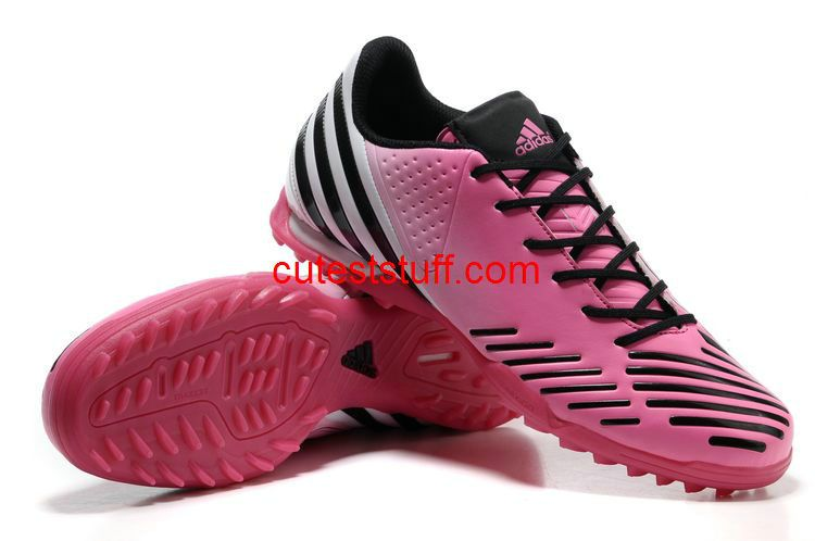 Adidas Predator LZ TF Cleats Olympic Pink White Black  Red  Womens   Sneakers Turf dc1fda108d