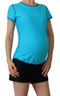d342b0dc3af0f Best Maternity Swimwear — Mermaid Maternity Rash Guard with swim shorts