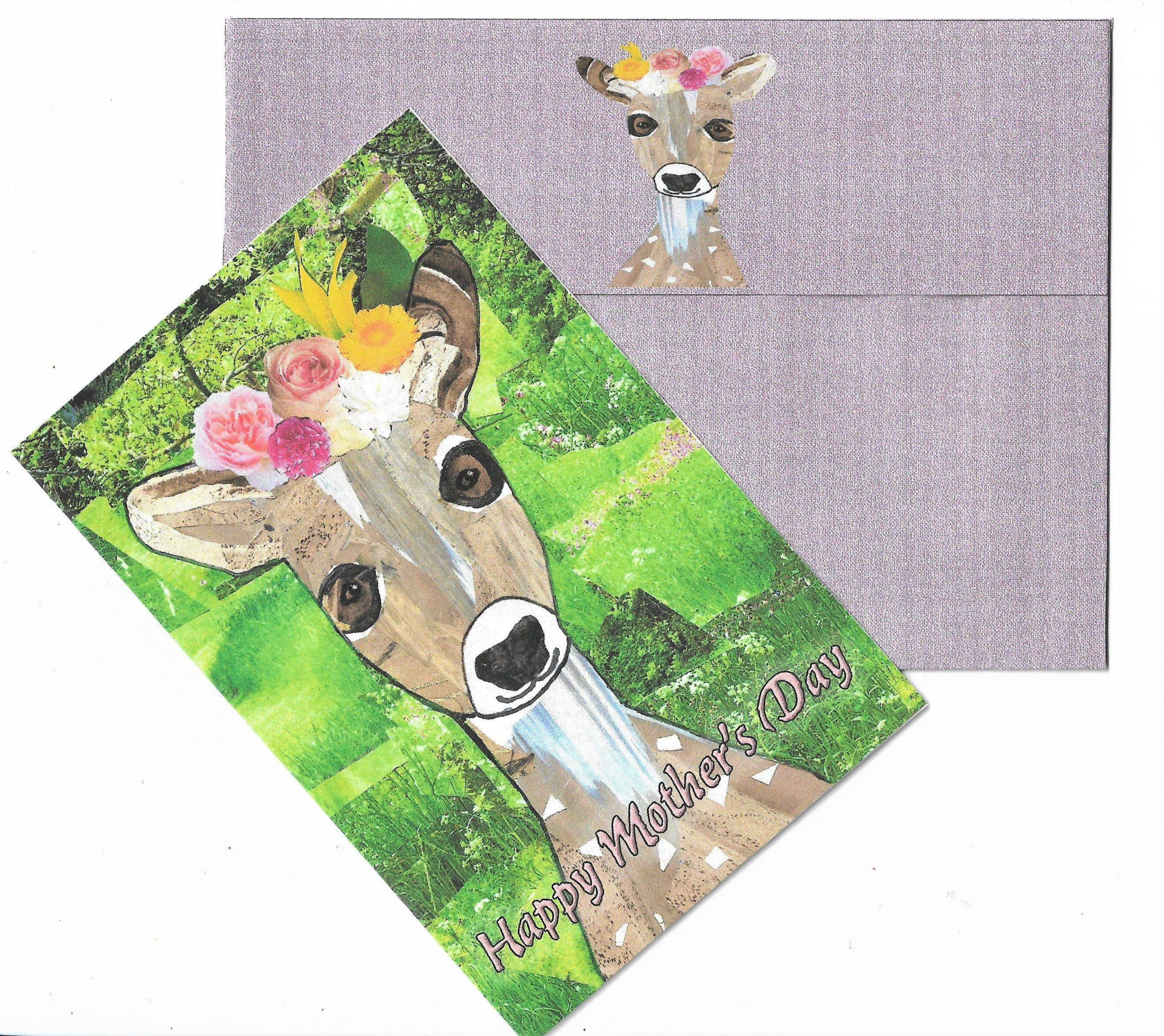Printable Handcrafted Sweet Fawn Special Day Card Etsy Blank Cards Handcraft Mom Cards