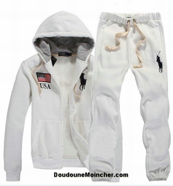 3db395022e9f05 Ralph Lauren polo sweat suit   Ralph Lauren Homme Pas Cher Polo Suit Usa  Big Pony Blanc  RL-0121 .
