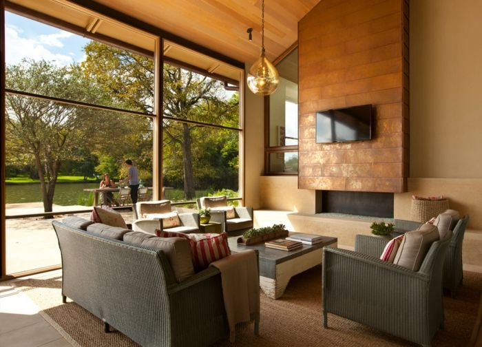 Wohnzimmer neu gestalten \u2013 moderner Landhaus-Look für den Altbau