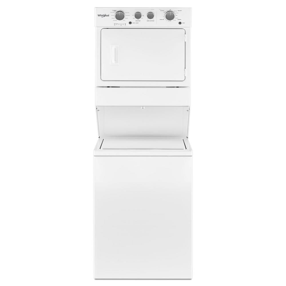 Whirlpool White Laundry Center With 3 5 Cu Ft Washer And 5 9 Cu