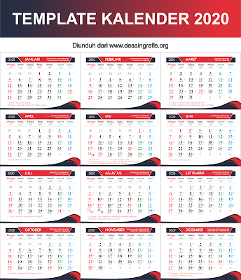 Kalender 2020 cdr | Kalender, Desain banner, Desain grafis