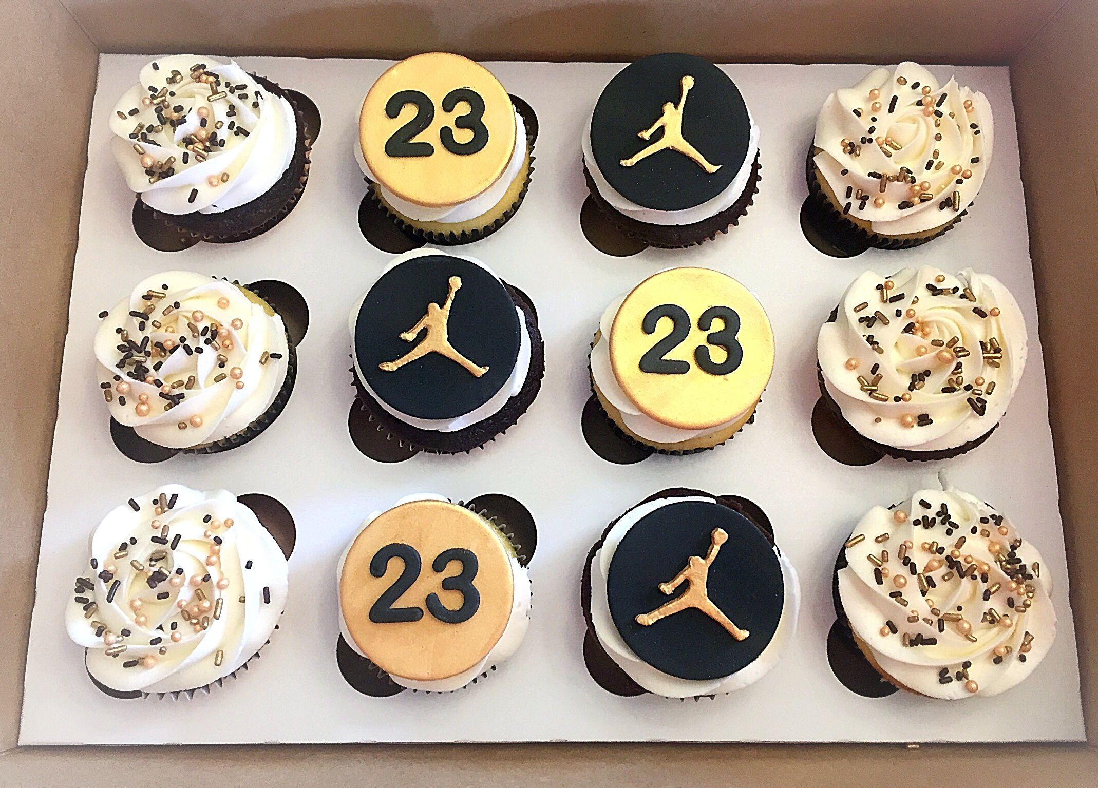 Michael Jordan Cupcakes Sweet Lias Cakes Treats Pinterest