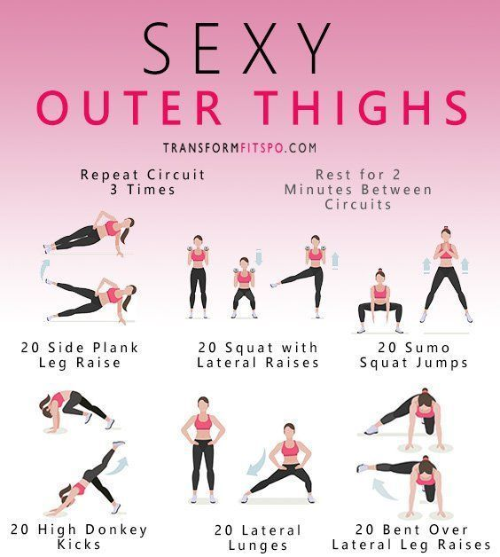 Photo of Sexy Outer Thigh Exercises Circuit – Fitness Pins